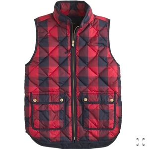 J. Crew Excursion Buffalo Check Plaid Quilted Vest